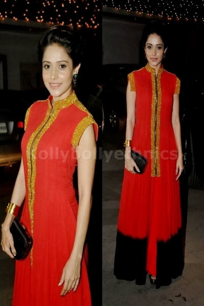 Red floor length Bollywood Suit