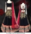 Gorgeous black and red Lehenga