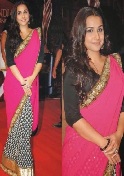 Vidhya Balan Pink saree