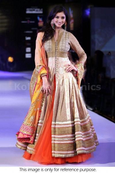 Tanvi Vyas Cream colour double layer Designer Anarkali