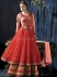 Red colour layered exclusive Wedding wear anarkali