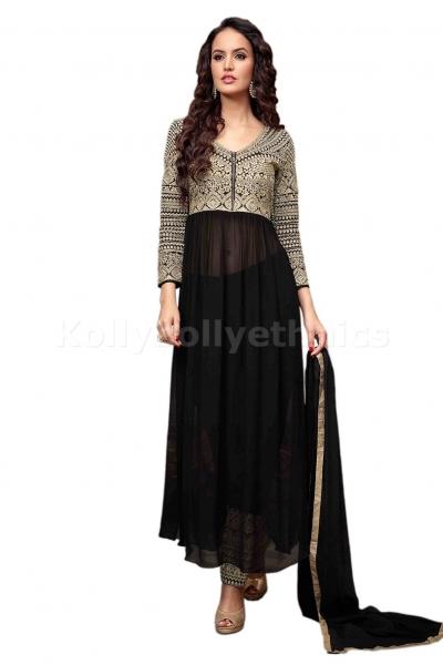 Black colour Wedding wear Designer Anarkali