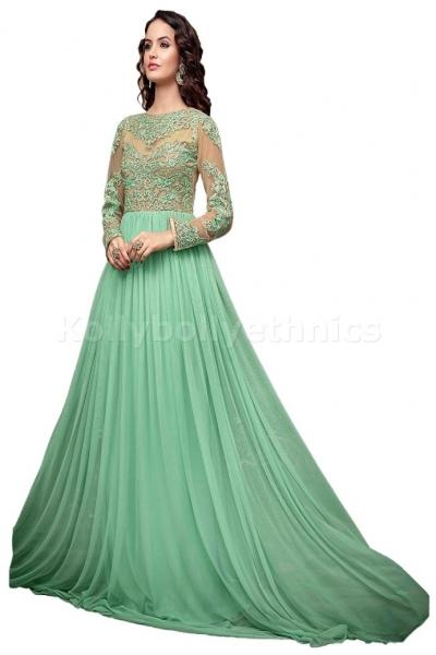Light green Wedding wear Designer Anarkali