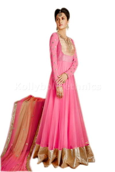 Pink colour Party Wear anarkali