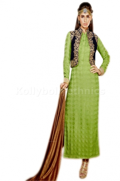Brown colour Party Wear kameez