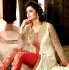 Off white and red Party Wear Designer anarkali kameez