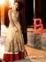 Beige lehenga style Party Wear Designer  kameez