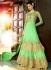 Light parrot green Party Wear Designer anarkali kameez