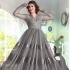Gray Net / Satin / Brasso Gown
