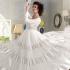 White Net / Satin / Brasso Gown