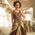 Brown Satin / Net Gown