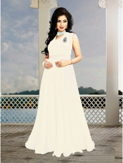 Cream Georgette / Velvet Gown