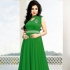 Green Georgette / Velvet Gown