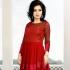 Maroon Soft Net Satin Gown