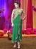 Green jacket style heavy work designer salwar