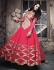 Hit Colour Plus Red Floor Length Anarkali Suit