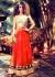 Kangana Ranaut Designer Red Mirror Work Anarkali Suit