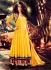 Designer Yellow Anarkali Suit With Jacket