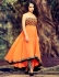 Kangana Ranaut Designer Orange Georgette Anarkali Suit
