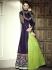 Purple And Green Heavy Lehenga Style Anarkali Suit