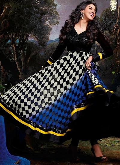 Asin Thottumkal Multi Color Georgette Designers Anarkali Suit