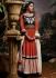 Asin Thottumkal Multi Color Cotton and; Jacquard Anarkali Suit