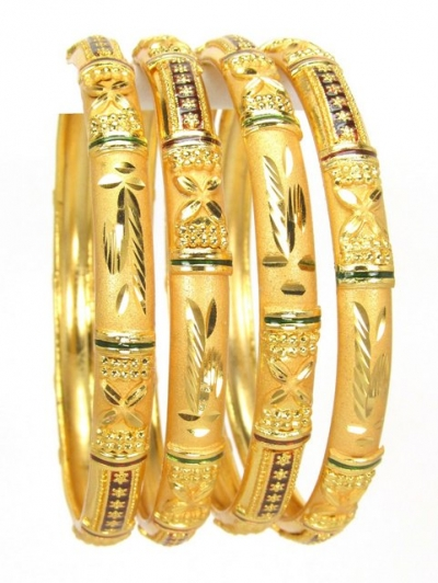 Gold Plated Bangles 78833-2-6