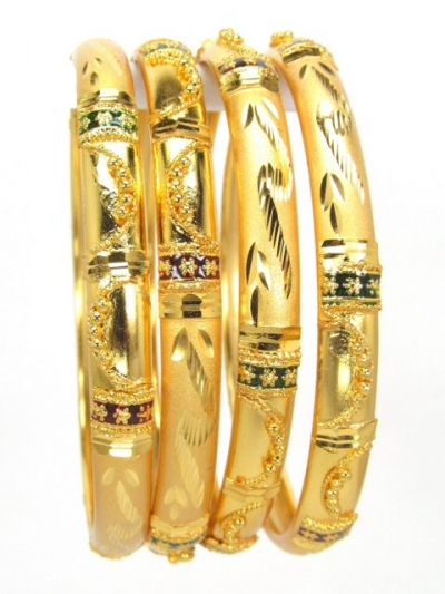 Gold Plated Bangles 78830-2-6