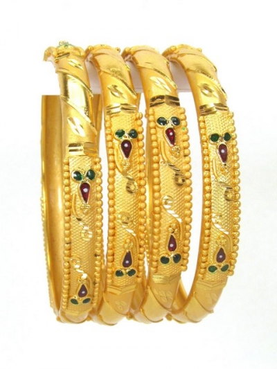 Gold Plated Bangles 78871-2-4