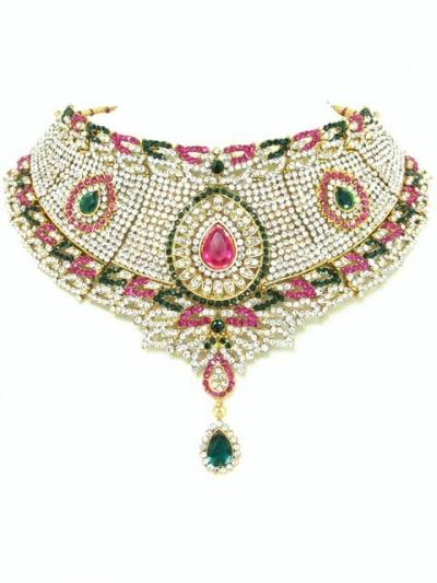 Stone Studed Bridal Jewellery Set 68076
