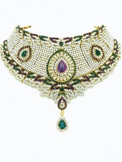 Stone Studed Bridal Jewellery Set 68073