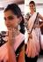 Sonam Kapoor Bollywood Designer Peach And Black Saree