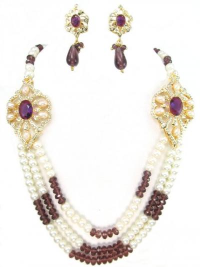 Exclusive Costume Rajwadi Jewellery Set 71595