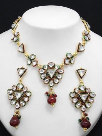 Designer Latest Rajwadi Jewellery Set 15371