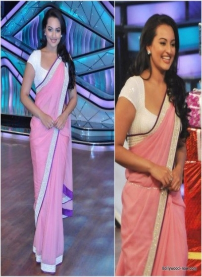 Sonakshi sinha pink saree