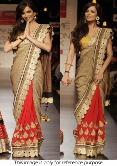 Malaika Arora Golden saree