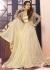Beige Net And Jacquard Anarkali Suit