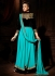 Turquoise And Black Anarkali Suit