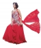Red colour graceful Wedding gown