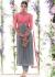 Grey and pink straight cut wedding wear kameez