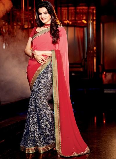 Ameesha Patel Multi Color Georgette Sarees
