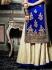 Goodness Blue Velvet Palazzo Churidar Suit