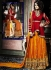 Goodness Red Satin Silk On Net Palazzo Churidar Suit