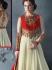 Obligingness Off White Faux Georgette Anarkali Suit