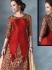 Obligingness Red Bhagalpuri Silk Lehenga Style Churidar Suit