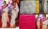 Kajol white and  pink saree