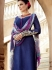 Amicability Navy Blue Cotton Silk Palazzo Churidar Suit
