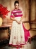 Graciousness Off White Bangalori Silk Anarkali Suit