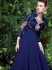 Amicableness Blue Georgette Anarkali Suit