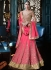 Outstanding Hot Pink Georgette Lehenga Choli